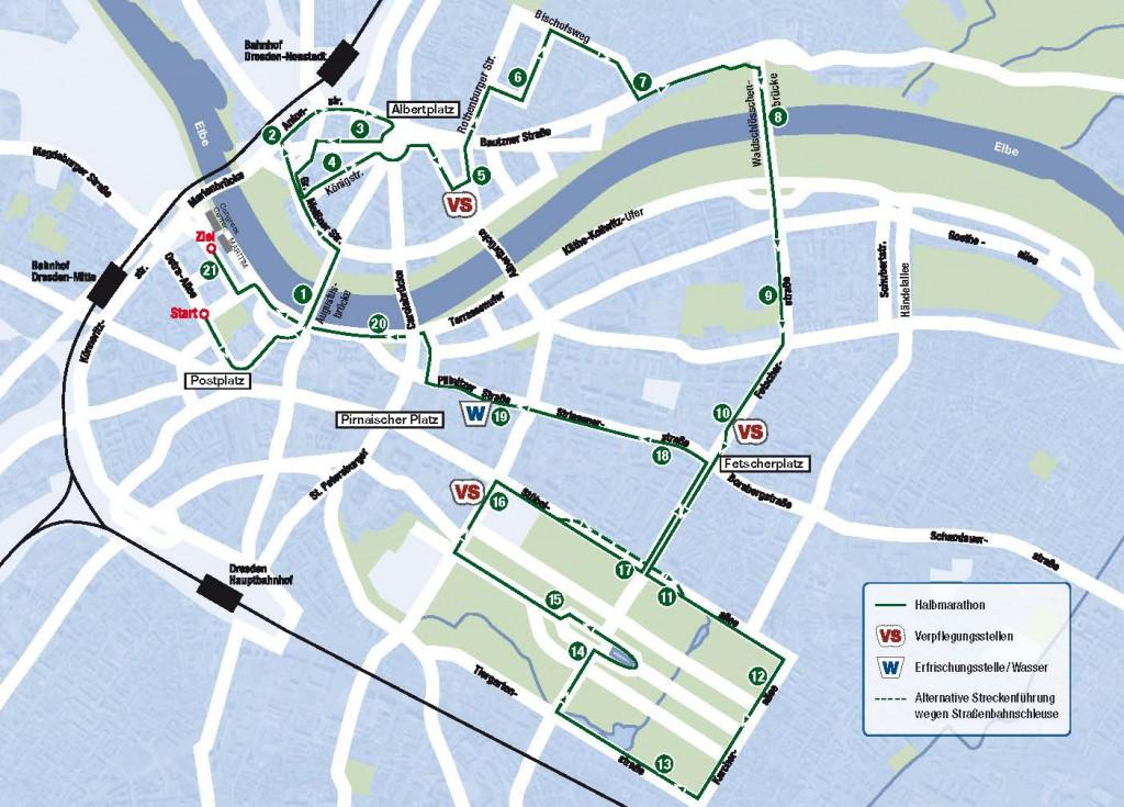Streckenbesichtigung Dresden Marathon